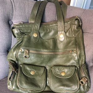 Marc Jacobs green leather totes